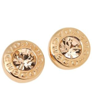 🆕Gold Open Circle Stud Earrings F54516, Gold.